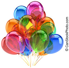 globos, fiesta, cumpleaños, globo