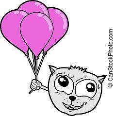 globos, gato
