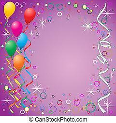 globos, plano de fondo