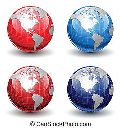 globos, terra