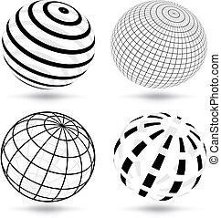 globos, vetorial
