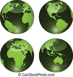 globos, vetorial, lustroso