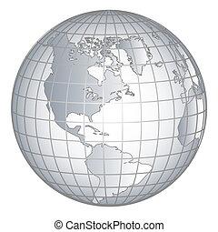 globus, amerika