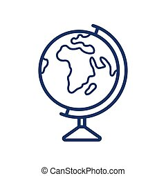 Globus icon on white background, vector illustration