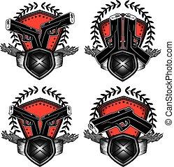 glock, 手槍, 軍事, 設計, 郵票