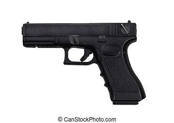Glock - Black handgun isolated on white