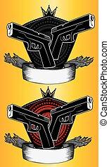 glock pistol paper parchment icon