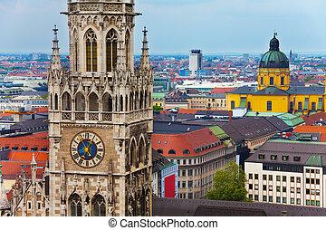 glockenspiel, reloj, theatine, munich, iglesia