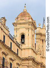 glockenturm, kathedrale, noto