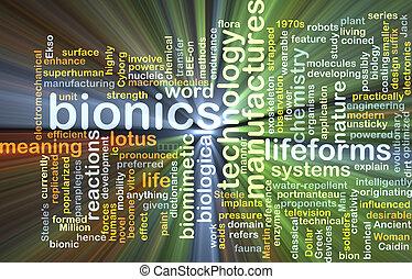 gloeiend, concept, bionics, achtergrond