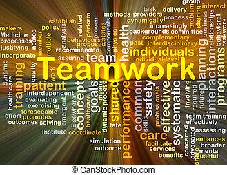 gloeiend, concept, teamwork, achtergrond
