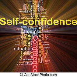 gloeiend, concept, zelfvertrouwen, been, achtergrond