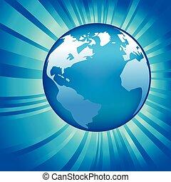 gloeiend, globe