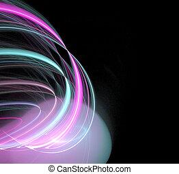 gloeiend, plasma, abstract