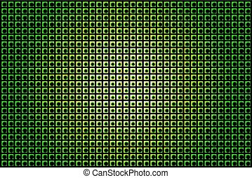 gloeiend, techno, groene achtergrond