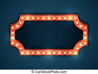 gloeilamp, frame, marquee
