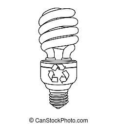 gloeilampen, energy-saving, pictogram