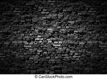 Gloomy brickwall background.