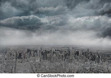 Gloomy city