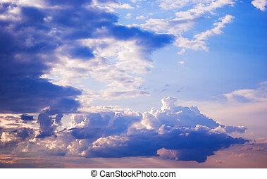 Gloomy clouds