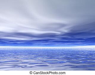 Gloomy Skies - Cloudy and gloomy sky over the sea