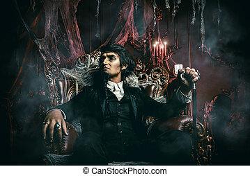 gloomy vampire man