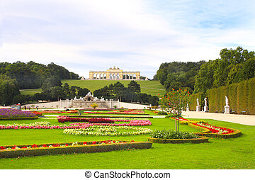 Gloriette and Schonbrunn gardens, Vienna
