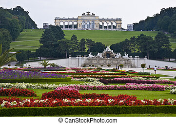 Gloriette in the park of palace Schoenbrunn in Vienna