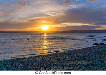 Glorious Puget Sound Sunset - a glorious sunset over the ...