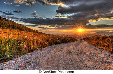 Glorious sunset on mt. nanos in Slovenia Europe