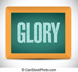 glory message on a board illustration design