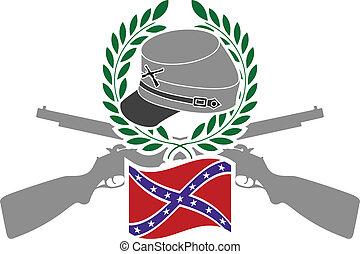 Glory of Confederacy. stencil. vector illustration