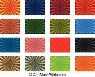 Glory stripes - Colorful vector sunburst background pack