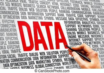glose, data