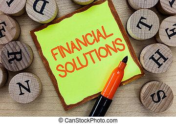 glose, skrift, tekst, finansielle, solutions., begreb branche, by, til frelser, penge, på, forsikring, og, beskyttelse, behøve