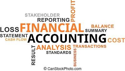glose, sky, -, finansielle, bogholderi