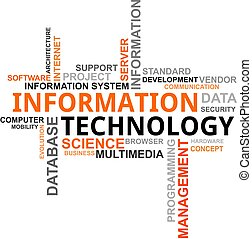 glose, sky, -, information teknologi