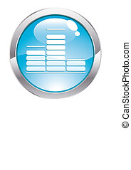 Gloss Button with Equalizer