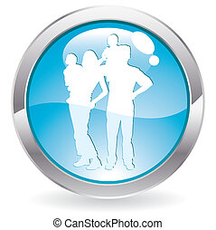 Gloss Button with Family