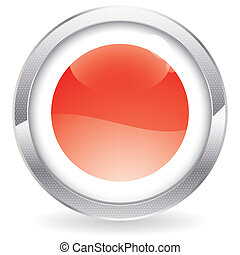 Gloss Button with Japan Flag - Three Dimensional circle...