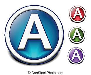 Glossy alphabet design