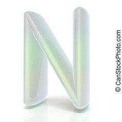 "Glossy alphabet. The letter ""N"""