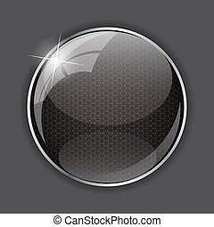 Glossy Application Icon Template Vector Illustration