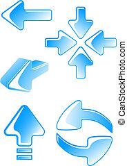 Glossy arrow icons