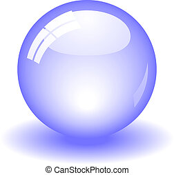 Glossy Ball - Glossy blue ball. Available in jpeg and eps8...