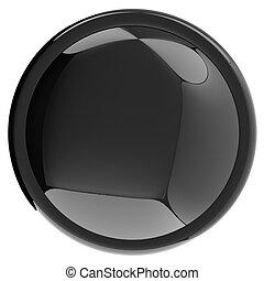 Glossy black button