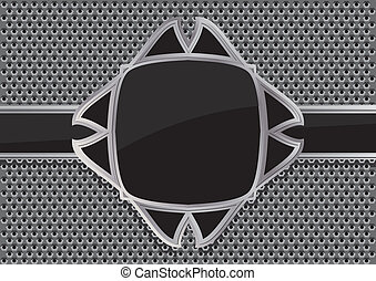 Glossy black plate