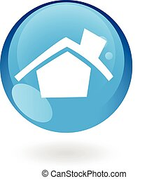 Glossy blue home