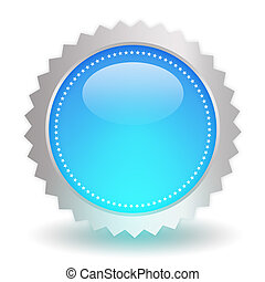 Glossy blue icon