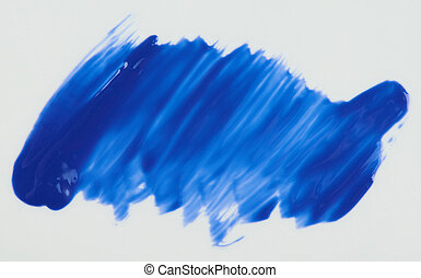 Glossy blue paint stain isolated